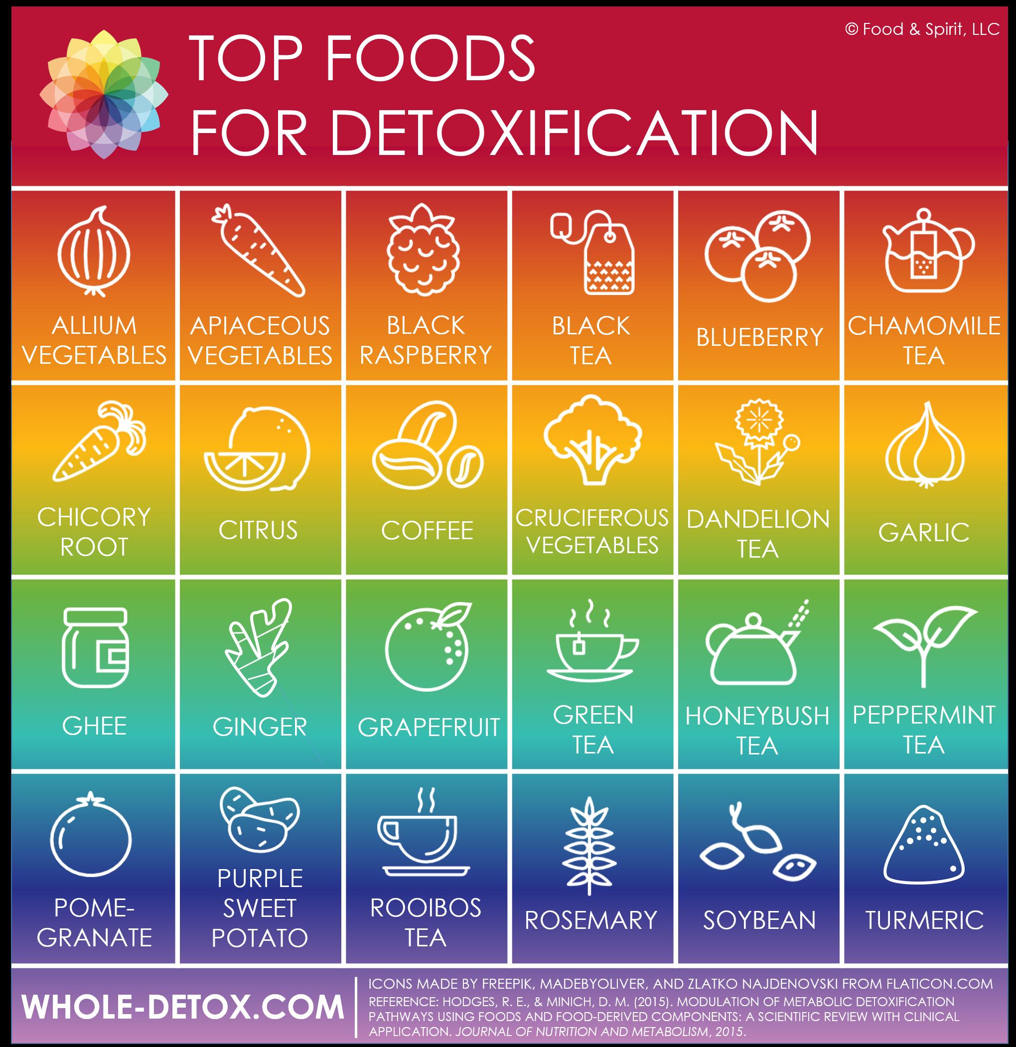 Top Detox Foods Infographic